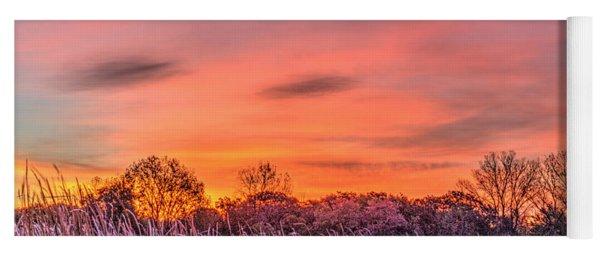 Illinois Prairie Moments Before Sunrise Yoga Mat
