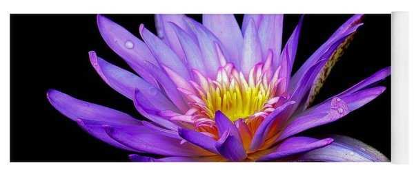 Purple Lilly Yoga Mat