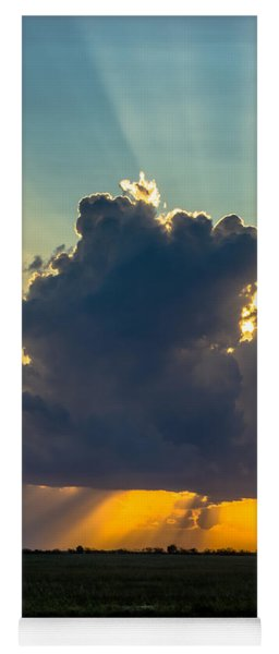 Rays From The Clouds Yoga Mat