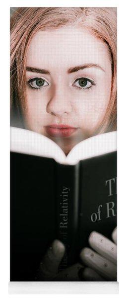 Reading Theory Of Relativity Book Yoga Mat