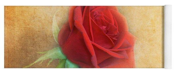 Red Rose  Yoga Mat