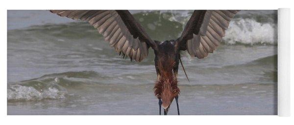 Reddish Egret Fishing Yoga Mat