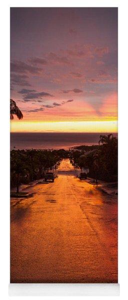 Sunset After Rain Yoga Mat