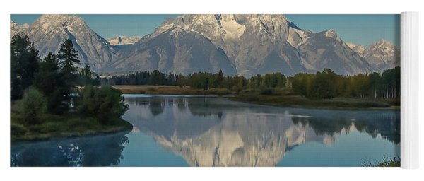 Reflections Of Mount Moran Yoga Mat