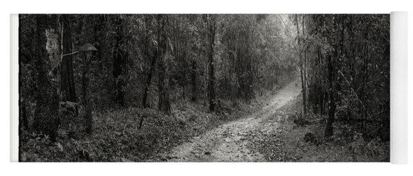 Road Way In Deep Forest Yoga Mat