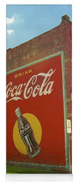 Route 66 - Coca Cola Ghost Mural Yoga Mat