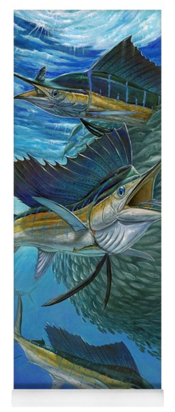 Sailfish With A Ball Of Bait Yoga Mat