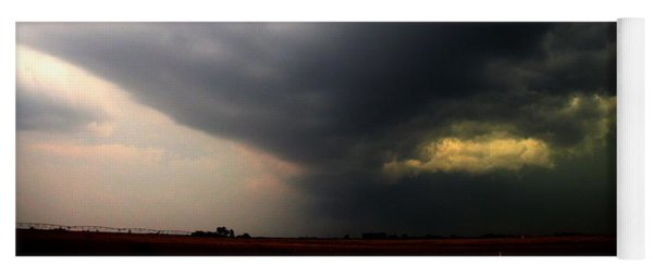 Yoga Mat featuring the photograph Severe Cells Over South Central Nebraska by NebraskaSC