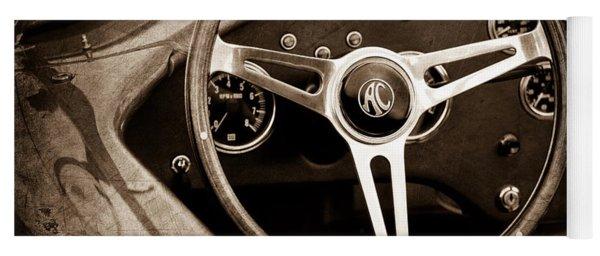 Shelby Ac Cobra Steering Wheel Emblem Yoga Mat
