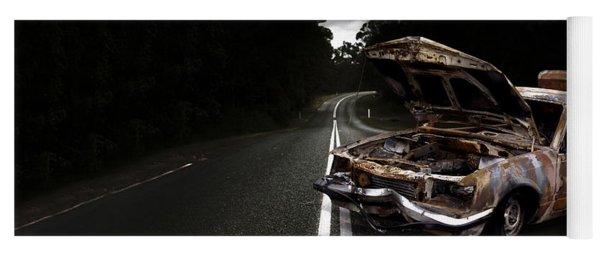 Smashed Up Car Wreck Yoga Mat