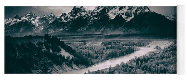 Snake River In The Tetons - 1930s Yoga Mat