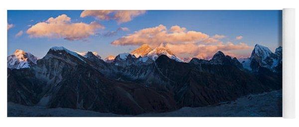 Snowcapped Mountain Peaks, Mt Everest Yoga Mat