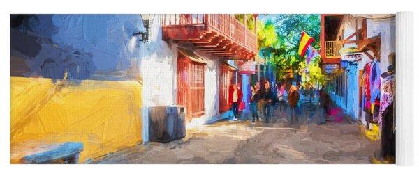 St George Street St Augustine Florida Painted Yoga Mat
