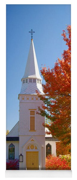 St Matthew's In Autumn Splendor Yoga Mat