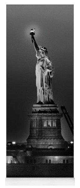 Statue Of Liberty Sunset. Nyc Harbor Yoga Mat