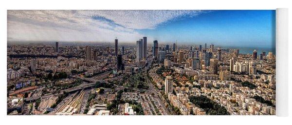 Tel Aviv Skyline Yoga Mat