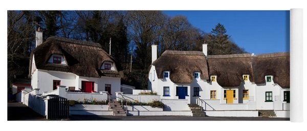 Thatched Cottages Near Dunmore Strand Yoga Mat