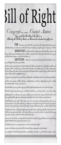 The Bill Of Rights H K Yoga Mat