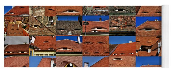 The City's Eyes Sibiu Hermannstadt Romania Yoga Mat
