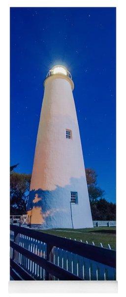 The Ocracoke Lighthouse On Ocracoke Island On The North Carolina Yoga Mat