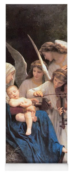The Virgin With Angels Yoga Mat