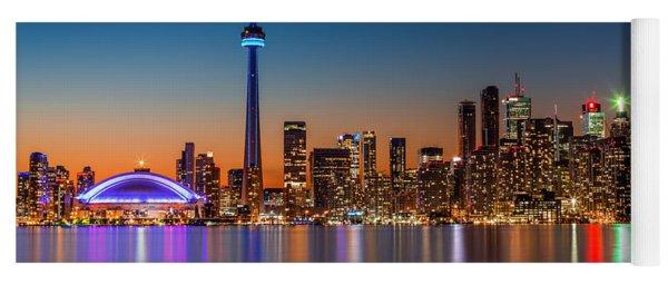Toronto Skyline At Dusk Yoga Mat