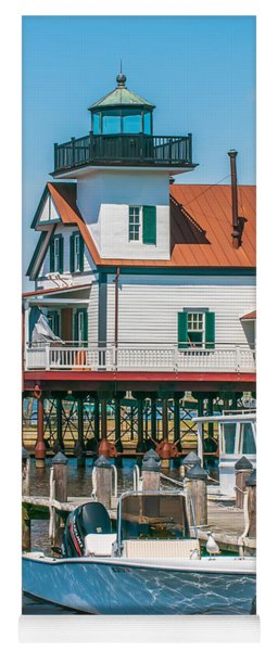Town Of Edenton Roanoke River Lighthouse In Nc Yoga Mat