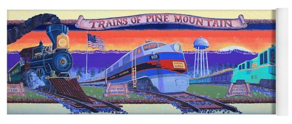 Trains Of Pine Mountain Yoga Mat