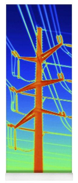 Transmission Tower Thermogram Yoga Mat
