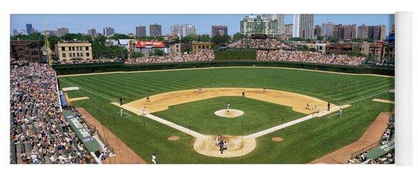 Usa, Illinois, Chicago, Cubs, Baseball Yoga Mat
