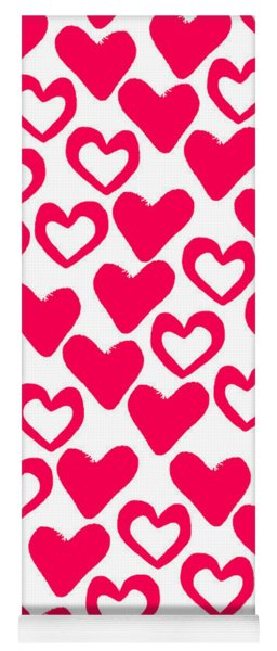 Valentines Day Card Yoga Mat