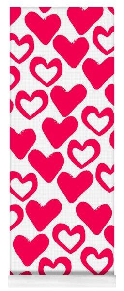 Valentines Day Card Yoga Mat