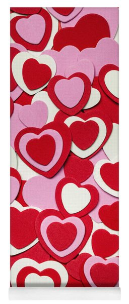 Valentines Day Hearts Yoga Mat