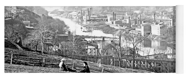 View Of Conshohocken Pennsylvania C 1900 Yoga Mat