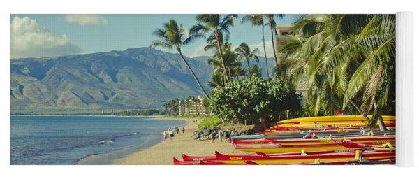 Kenolio Beach Sugar Beach Kihei Maui Hawaii  Yoga Mat