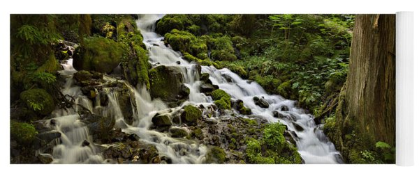 Yoga Mat featuring the photograph Wahkeena Creek by Mary Jo Allen