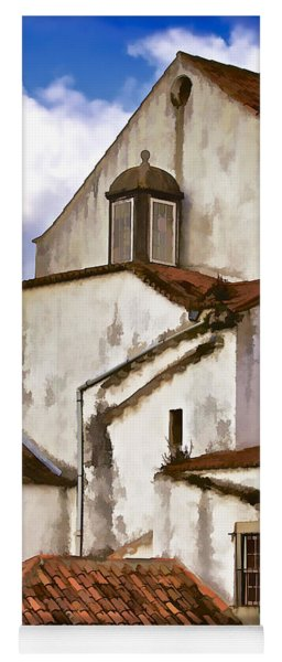 Weathered Buildings Of The Medieval Village Of Obidos Yoga Mat