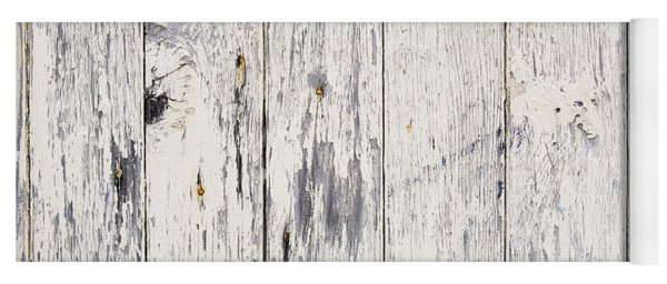 Weathered Paint On Wood Yoga Mat