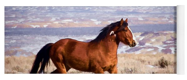 Eagle - Wild Horse Stallion Yoga Mat