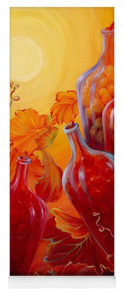 Yoga Mat featuring the painting Wine On The Vine II by Sandi Whetzel