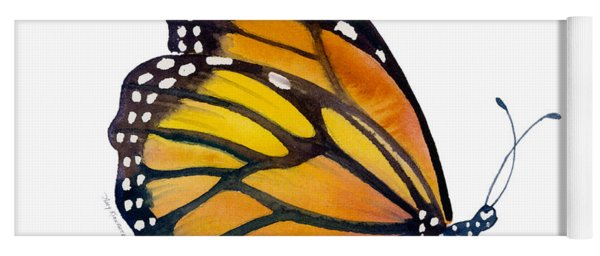 103 Perched Monarch Butterfly Yoga Mat