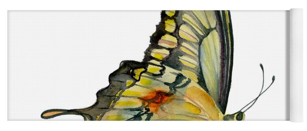 104 Perched Swallowtail Butterfly Yoga Mat