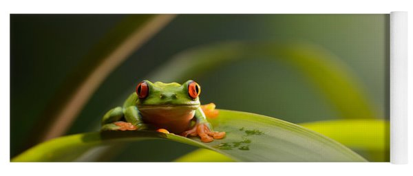 Red Eyed Tree Frog Yoga Mat