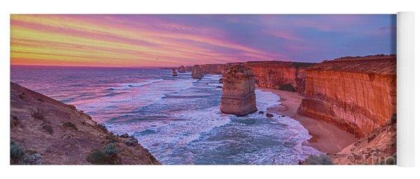 12 Apostles At Sunset Pano Yoga Mat