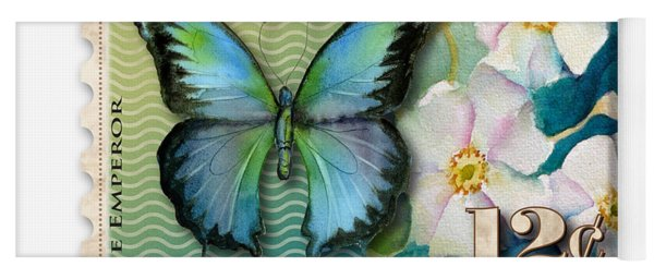 12 Cent Butterfly Stamp Yoga Mat