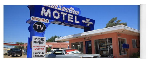 Route 66 - Blue Swallow Motel Yoga Mat