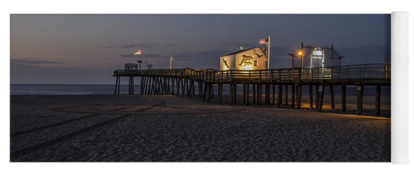 14th Street Pier At Night Yoga Mat