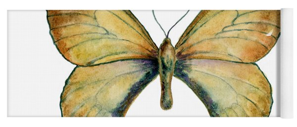 15 Clouded Apollo Butterfly Yoga Mat