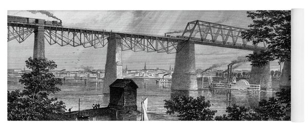 1800s 1870s 1872 View Of Louisville Ky Yoga Mat