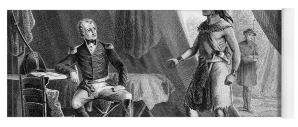 1814 General Andrew Jackson & Red Eagle Yoga Mat